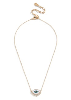 BaubleBar Athena Eye Pendant Necklace