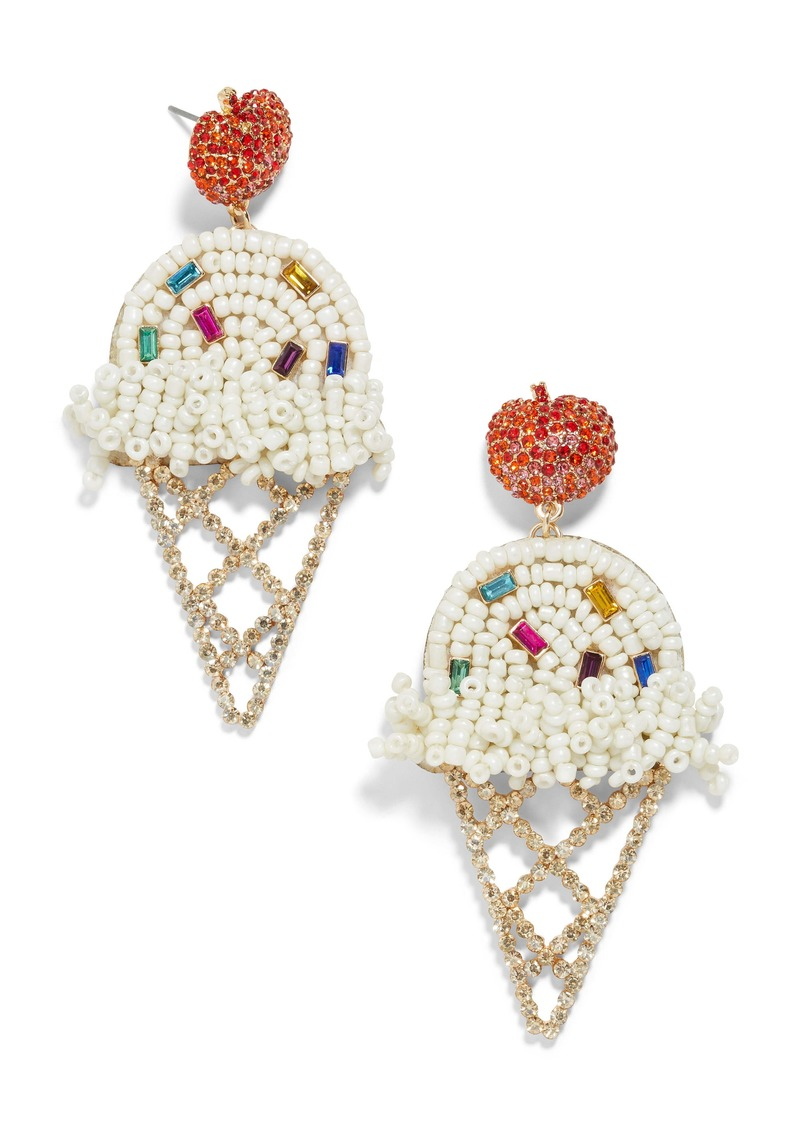 BaubleBar Beaded Ice Cream Cone Earrings