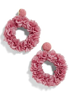 BaubleBar Camellia Floral Hoop Drop Earrings