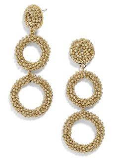 BaubleBar Capella Beaded Triple Hoop Drop Earrings