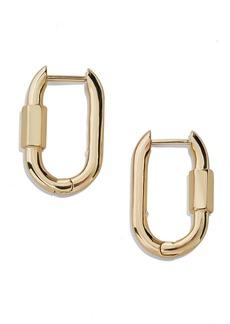 Baublebar Carabiner Huggie Hoop Earrings