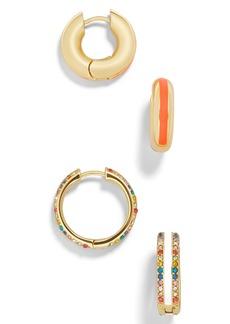 BaubleBar Cerelia Set of 2 Huggie Earrings