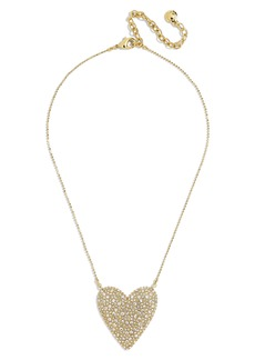 BaubleBar Cintia Pavé Heart Pendant Necklace