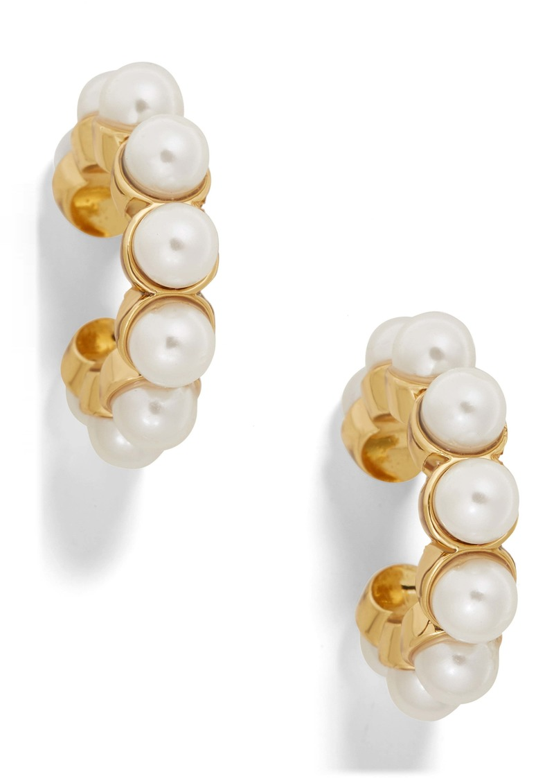 BaubleBar Clasina Set of 2 Genuine Pearl Ear Cuffs
