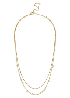BaubleBar Confetti Everyday Two Strand Necklace