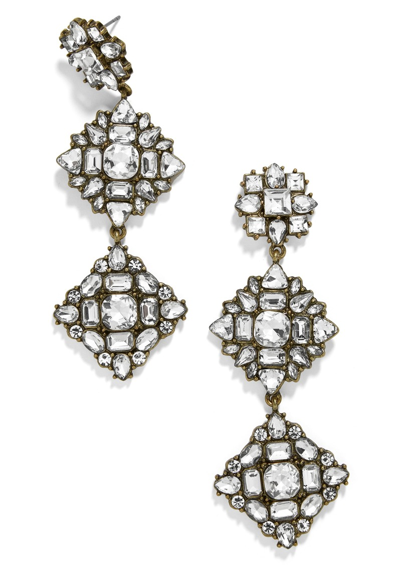 BaubleBar Crystal Station Drop Earrings