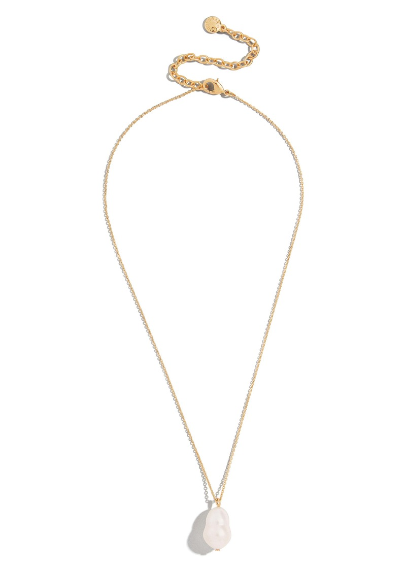 BaubleBar Daisy Genuine Freshwater Pearl Pendant Necklace
