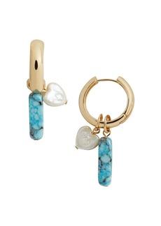 BAUBLEBAR Daisy Huggie Hoop Earrings