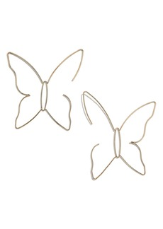 BaubleBar Delicate Butterfly Drop Earrings