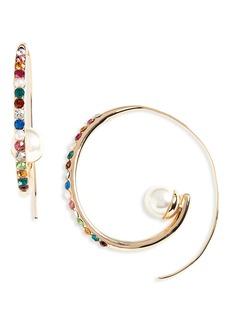 BaubleBar Delisa Imitation Pearl Hoop Earrings