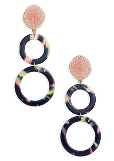 BaubleBar Destine Double Hoop Drop Earrings