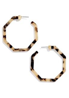 BaubleBar Devri Angular Hoop Earrings