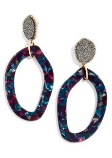 BaubleBar Tristana Drusy & Oval Drop Earrings