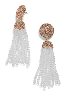 BaubleBar Elle Beaded Tassel Drop Earrings