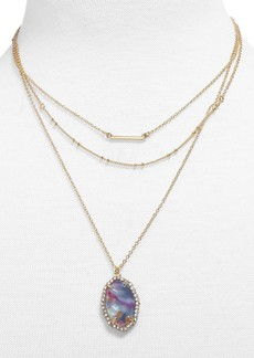 BaubleBar Ellory Layered Pendant Necklace