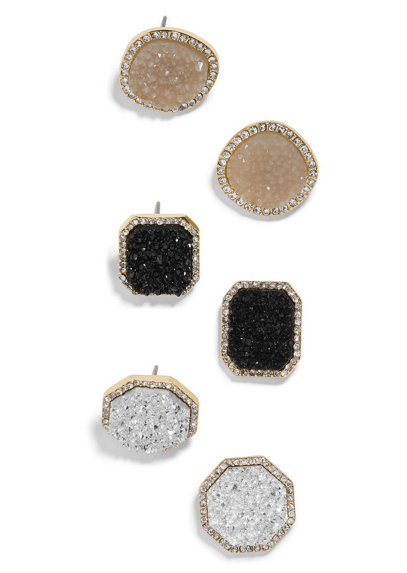 BaubleBar Elzina Set of 3 Stud Earrings