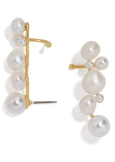 BaubleBar Set of 2 Soraida Pearl Ear Crawlers