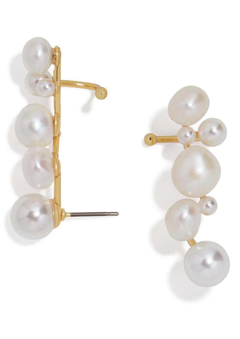 BaubleBar Set of 2 Soraida Pearl Ear Crawlers