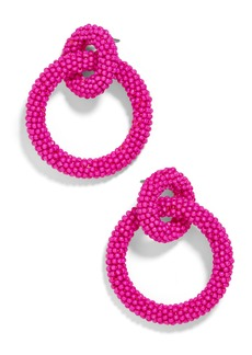 BaubleBar Emma Beaded Hoop Earrings