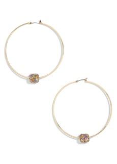 BaubleBar Essra Crystal Embellished Hoop Earrings
