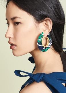 BaubleBar Fabric Hoop Earrings