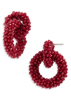 BaubleBar Farida Beaded Hoop Earrings