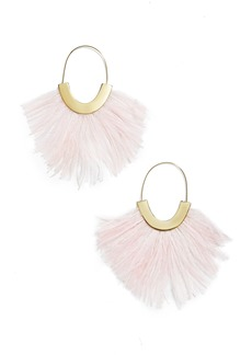 BaubleBar Feather Faidra Hoop Earrings