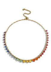 BaubleBar Francina Rainbow Heart Statement Necklace