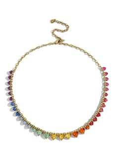 BaubleBar Francina Rainbow Heart Statement Necklace
