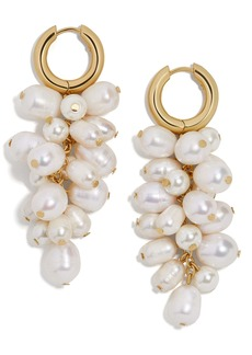 BaubleBar Freshwater Pearl & Imitation Pearl Cluster Drop Earrings