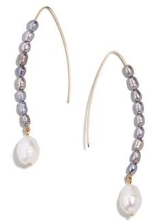 BaubleBar Freshwater Pearl & Imitation Pearl Drop Earrings