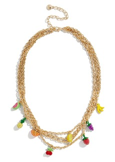 BaubleBar Fruit Blossom Layered Necklace