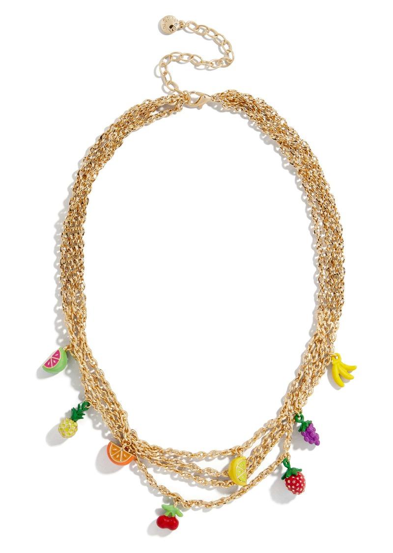 BaubleBar Fruit Blossom Layered Necklace