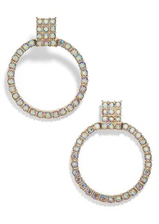 BaubleBar Gemma Crystal Embellished Hoop Earrings