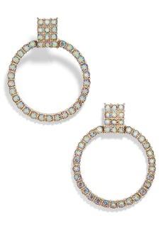 BaubleBar Gemma Crystal Embellished Hoop Earrings