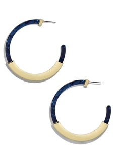 BaubleBar Tassiana Gold & Acrylic Hoop Earrings