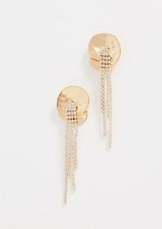 BaubleBar Hammered Crystal Strand Earrings