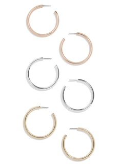 BaubleBar Harley Set of 3 Hoop Earrings