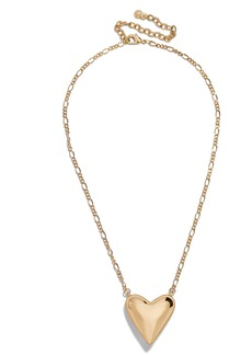 BaubleBar Heart Pendant Necklace