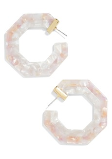 BaubleBar Hexagon Resin Hoop Earrings