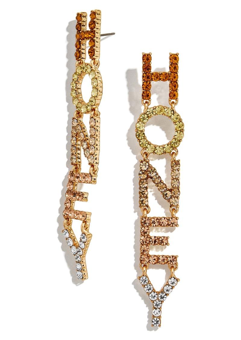 BaubleBar Honey Crystal Drop Earrings