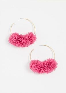 BaubleBar Hoop with Flower Earrings