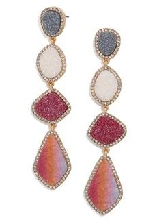 BaubleBar Hutton Imitation Drusy Drop Earrings