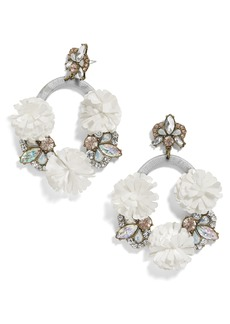 BaubleBar Ice Lily Hoop Earrings