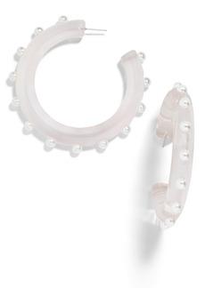 BaubleBar Halia Imitation Pearl Hoop Earrings