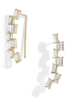 BaubleBar Isola Baguette Crystal Ear Crawlers