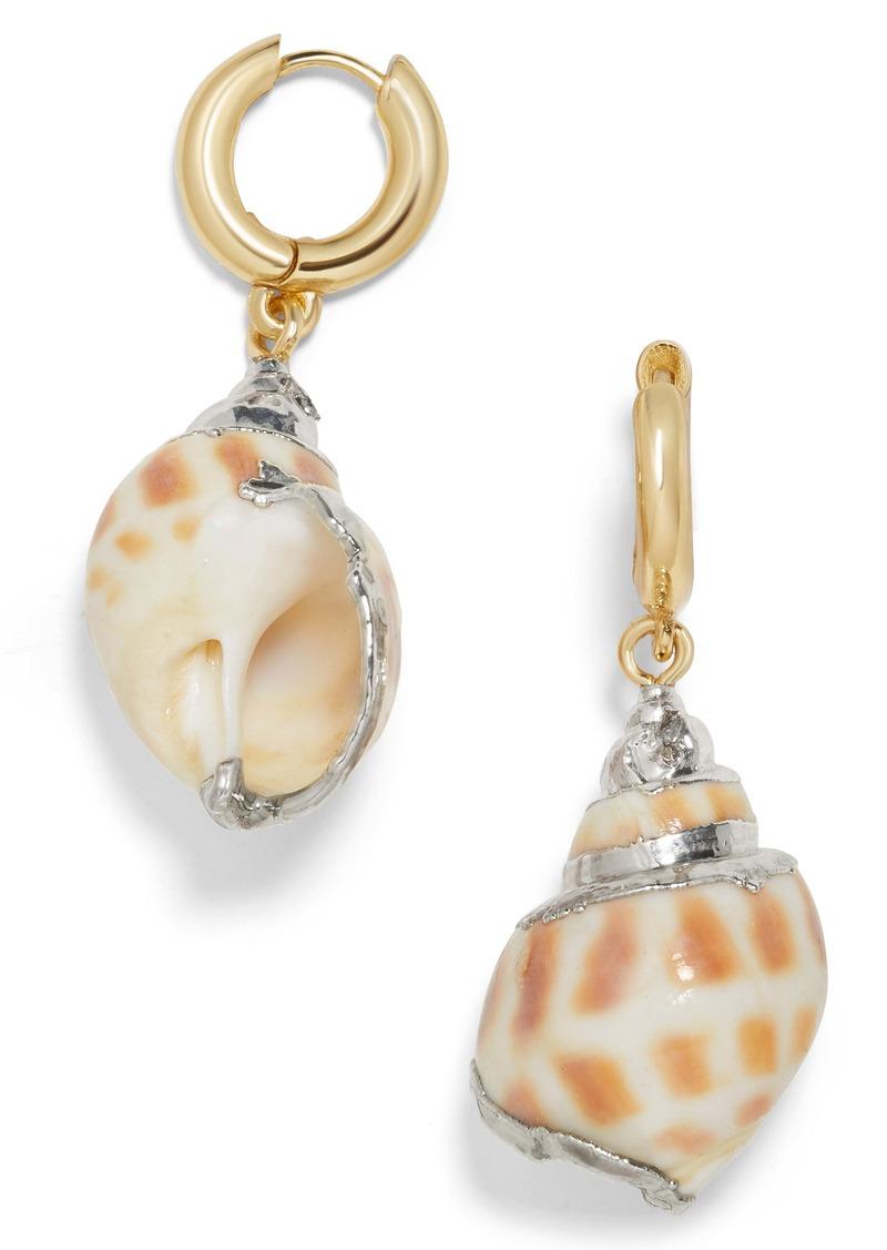 BaubleBar Kailua Shell Drop Earrings