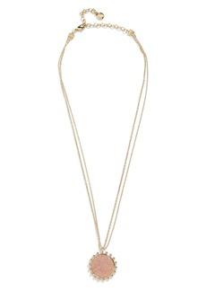 BaubleBar Kerison Drusy Pendant Necklace