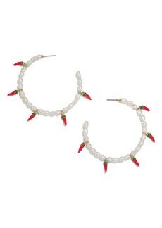 BaubleBar Solita Pearl Hoop Earrings