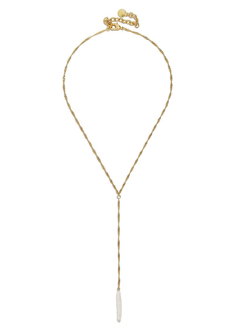 BaubleBar Keshi Pearl Y-Necklace